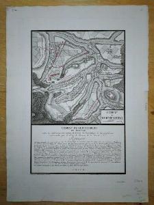 Bitva u Liberce 1757 - kolorovaná mnědiritina