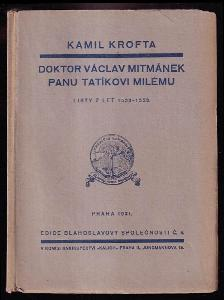 Doktor Václav Mitmánek panu tatíkovi milému - listy z let 1533-1553