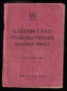 Kázeňský řád československé branné moci