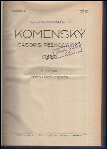 Komenský : časopis pedagogický Ročník L - 1922-1923