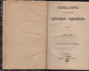 Kornelia Nepota životopisy výtečných vojevůdcův : překlad z latiny