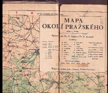 Mapa okolí pražského 1 : 100.000