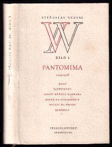 Pantomima 1919-1926 - Most - Pantomima - Menší růžová zahrada - Básně nad pohlednici - Nápisy na hroby - Blíženci