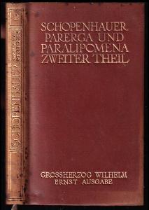 Parerga und Paralipomena - Band V - Zweiter Theil