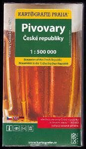 Pivovary České republiky 1 : 500 000 - všechny pivovary České republiky