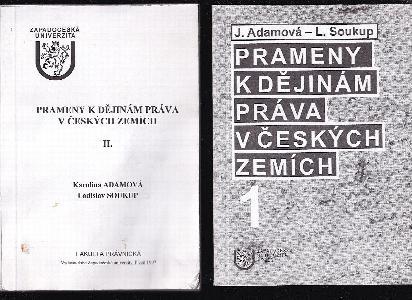 Prameny k dějinám práva v českých zemích 1 - 3