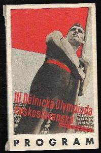 Program III. Dělnické Olympiady československé v Praze 1.-8. července 1934