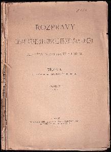 Rozpravy české akademie císaře františka  vědy  umění : třída I. (pro vědy filosofické, právní a historické)