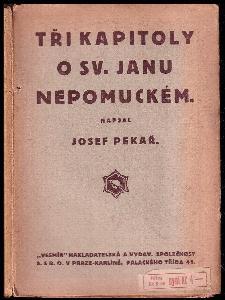 Tři kapitoly o janu nepomuckém