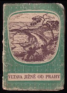 Vltava jižně od Prahy - měřítko 1 : 75.000 - rozkládací mapa