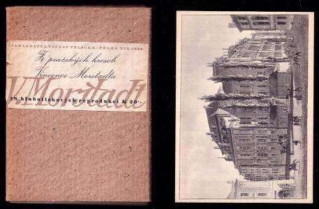 Z pražských kreseb Vincence Morstadta - 18 hlubotiskových reprodukcí - pohlednice