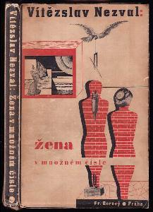 Žena v množném čísle - poesie - 1935 - básně, poznámky z deníku, jevištní poesie, surrealistická experimentace - OBÁLKA, FRONTISPICE A TYPOGRAFIE KAREL TEIGE